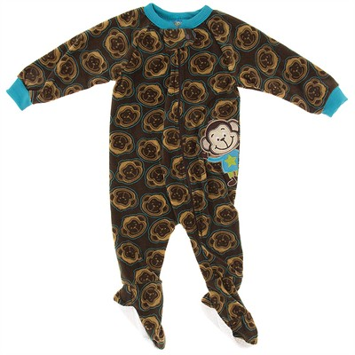 Brown Monkey Blanket Sleeper for Boys