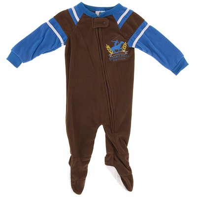 Beverly Hills Polo Club Brown Blanket Sleeper for Boys
