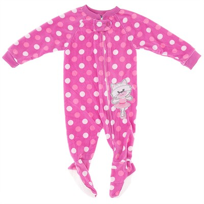 Pink Polka Dot Cat Blanket Sleeper for Girls