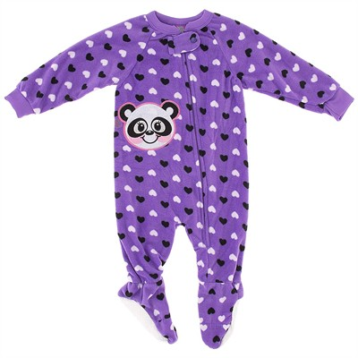 Purple Panda Blanket Sleeper for Girls