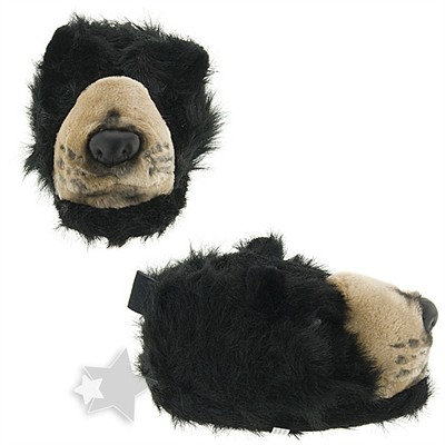 Black Bear Animal Slippers for Women and Men