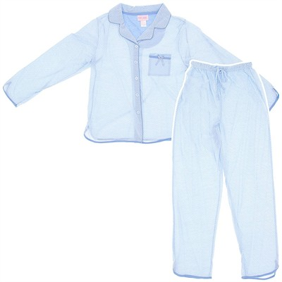 Light Blue Polka Dot Pajamas for Women
