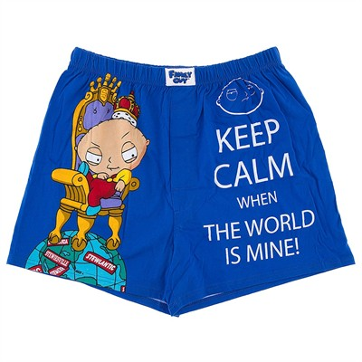 Stewie Keep Calm Boxer Shorts for Men