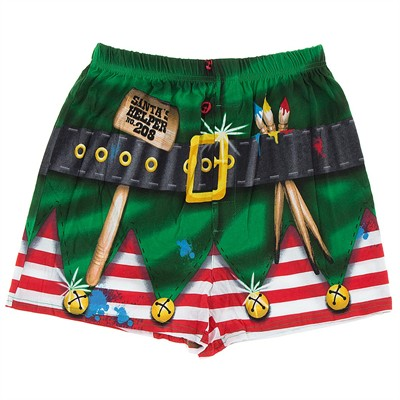Elf Christmas Boxer Shorts for Men