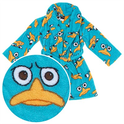 Phineas and Ferb Agent P Plush Bathrobe for Boys