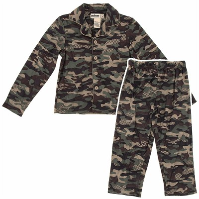 Green Camo Coat-Style Pajamas for Boys