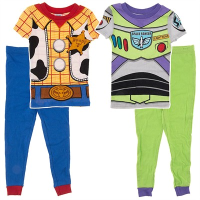 Buzz and Woody Cotton Short Sleeved Set of 2 Pajamas for Boys