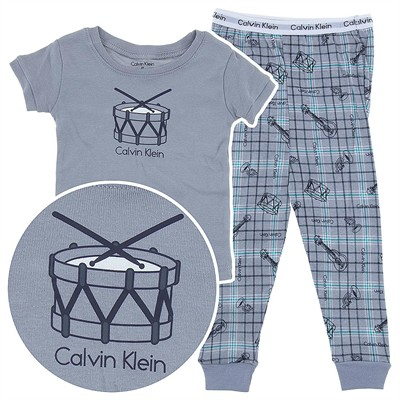 Calvin Klein Gray Music Cotton Toddler Pajamas for Boys