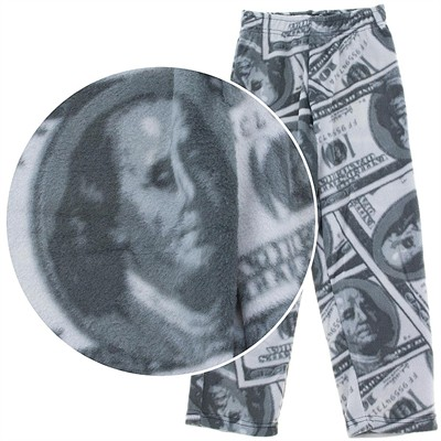Fun Kidz Benjamins Money Fleece Pajama Pants for Boys