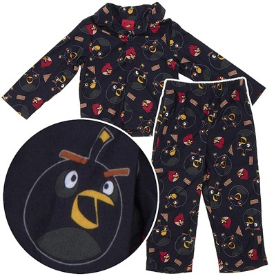 Angry Birds Black Coat-Style Pajamas for Boys
