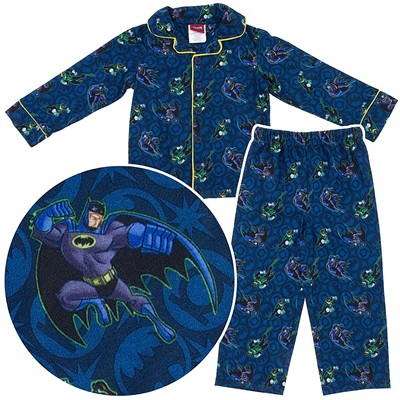 Batman the Brave Coat-Style Pajamas for Toddler Boys