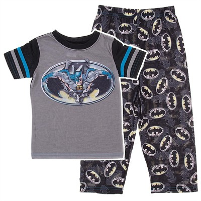 Batman Black Short Sleeved Pajamas for Boys