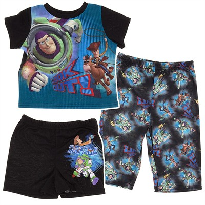 Toy Story Three Piece Pajama Set for Infant and Toddler Boys