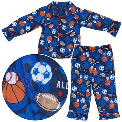 All Star Coat-Style Pajamas for Toddler Boys