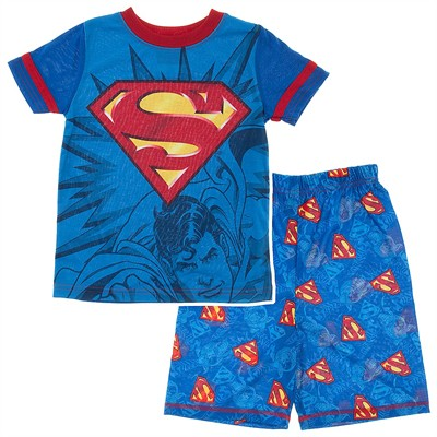Superman Blue Short Pajamas for Boys