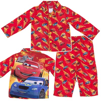 Cars Flames Coat-Style Pajamas for Toddler Boys
