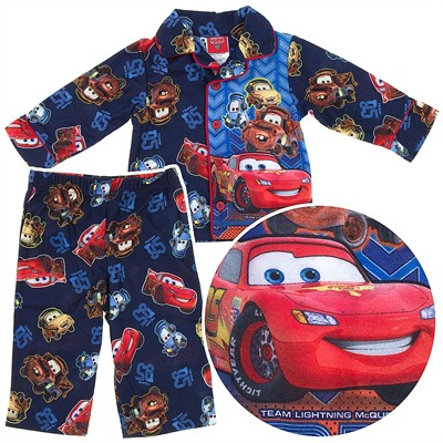 Cars Lightning McQueen Coat-Style Pajamas for Infant and Toddler Boys