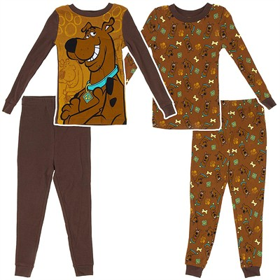Scooby Doo Set of Two Pajamas for Toddler Boys