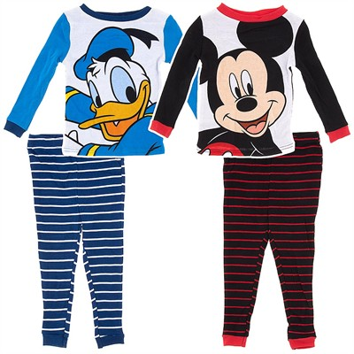 Mickey and Donald Cotton 2 Pack Pajamas for Toddler Boys