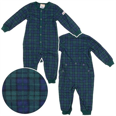 Dr. Denton Green Plaid Drop Seat Pajamas for Toddlers and Boys