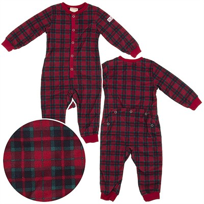 Dr. Denton Red Plaid Drop Seat Pajamas for Toddlers and Boys