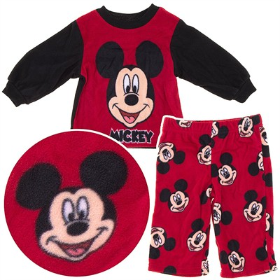 Mickey Mouse Dark Red Fleece Pajamas for Toddler Boys