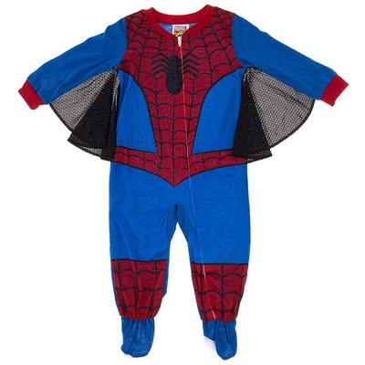 Spider-man Footed Pajamas with Webs for Toddler Boys