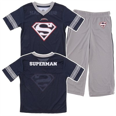 Superman Football Jersey Pajamas for Boys