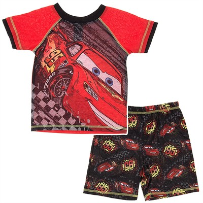 Lightning McQueen Short Pajamas for Boys