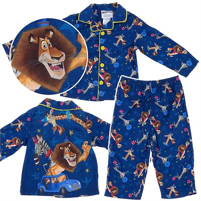 Madagascar Coat-Style Pajamas for Toddler Boys