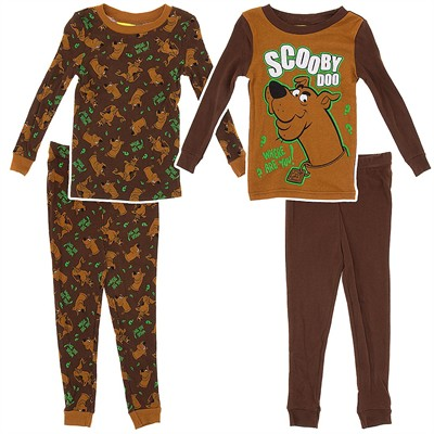 Scooby Doo Cotton 2 Pack Pajamas for Toddlers and Boys
