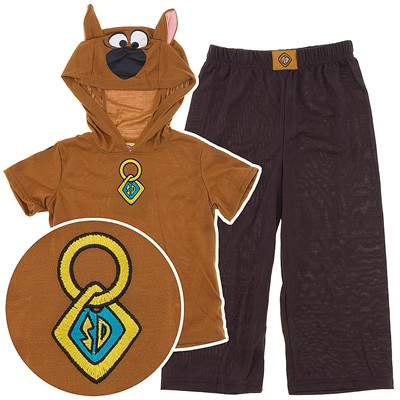 Scooby Doo Hooded Pajamas for Boys