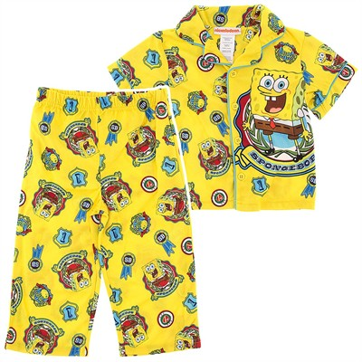 Spongebob Big Kahuna Coat-Style Pajamas for Toddler Boys