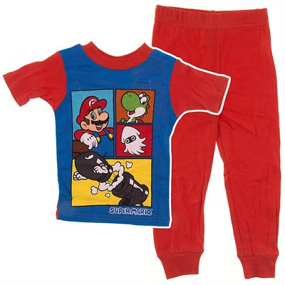 Super Mario Red Cotton Pajamas for Boys