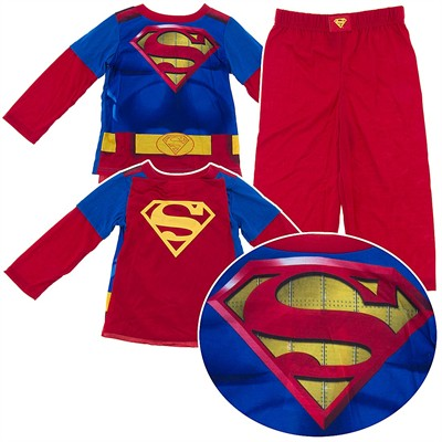 Superman Pajamas with Cape for Toddler Boys