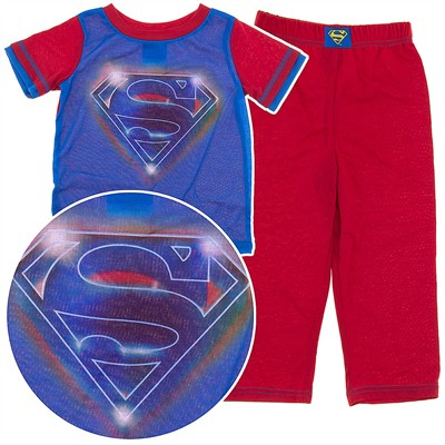 Superman Red and Blue Pajamas for Boys
