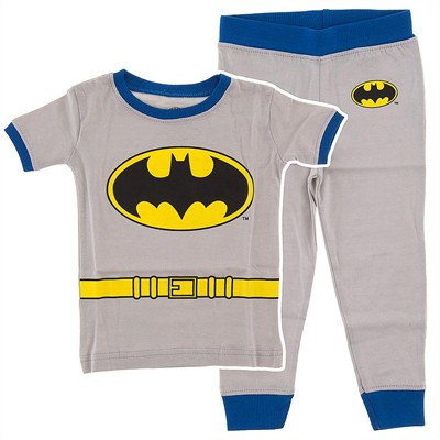 Batman Gray Cotton Pajamas for Infant and Toddler Boys