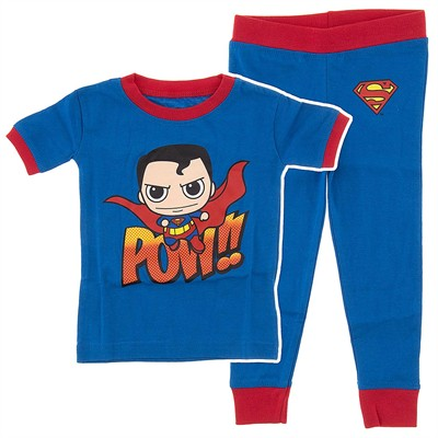 Superman Funko Cotton Pajamas for Infant and Toddler Boys