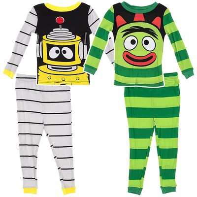 Yo Gabba Gabba Cotton 2 Pack Pajamas for Toddler Boys