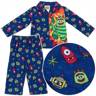 Yo Gabba Gabba Coat-Style Toddler Pajamas for Boys