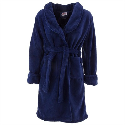 Navy Plush Bath Robe for Boys
