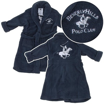 Beverly Hills Polo Club Gray Plush Robe for Toddlers and Boys