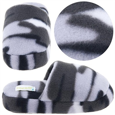 Gray Camo Slip On Slippers for Toddler Boys