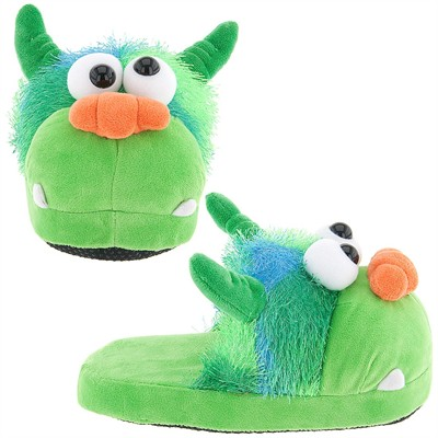 Green Monster Slippers for Boys