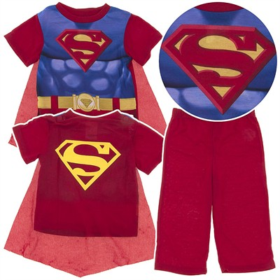 Superman Pajamas for Toddler Boys with Cape