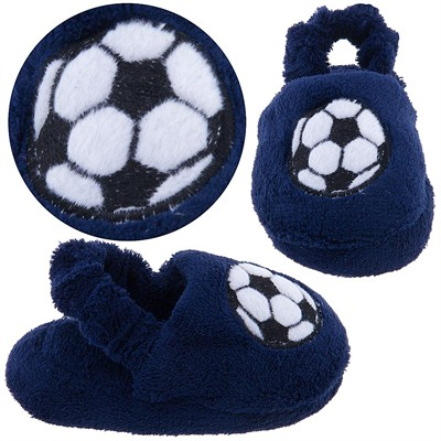Navy Soccer Infant and Toddler Slippers for Boys