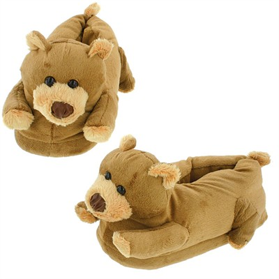 Brownie Bear Slippers for Women and Kids