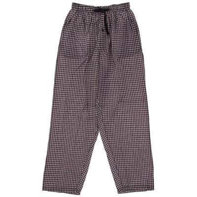Red Plaid Broadcloth Pajama Pants for Men