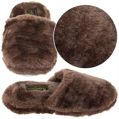 Brown Slip On Slippers for Women
