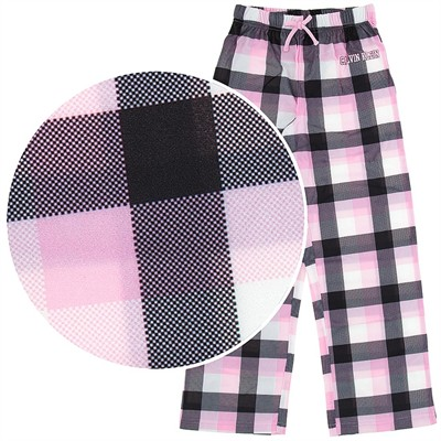 Calvin Klein Pink Plaid Pajama Pants for Girls